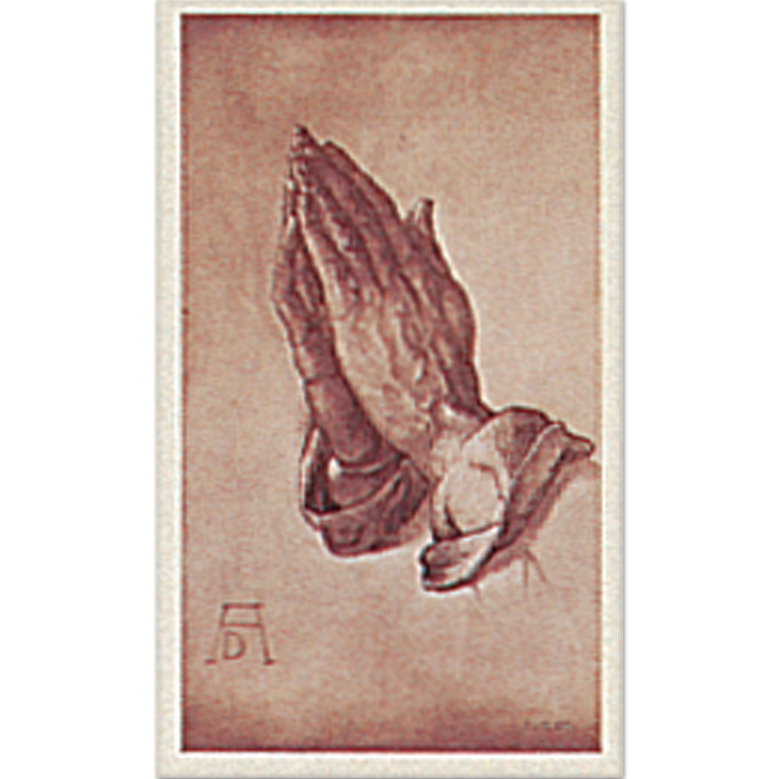 Praying Hands Reconciliation 8-UP Holy Card