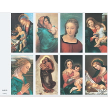 Assorted Madonna 8-UP Holy Cards