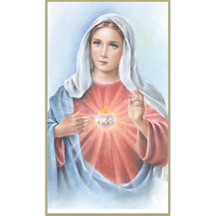 Immaculate Heart of Mary 8-UP Holy Card