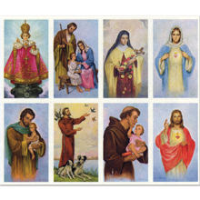 Assorted Saints 8-UP Holy Card