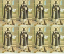 St. Martin De Porres 8-UP Holy Card