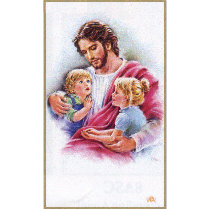 Children with Jesus 8-UP Holy Cards
