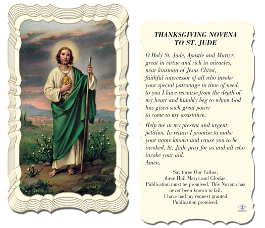 Thanksgiving novena to st jude 01 1861 tonini church supply thanksgiving novena to st jude holy card thecheapjerseys Choice Image