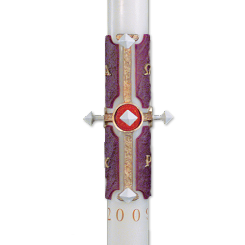"""Cross of Lamb"" Paschal Candles"