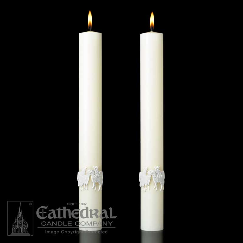 """Good Shepherd"" Paschal Side Candles"