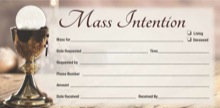 Mass Intention Offering Envelope