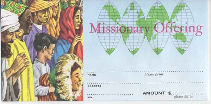 Missionary Fund Offering Envelope