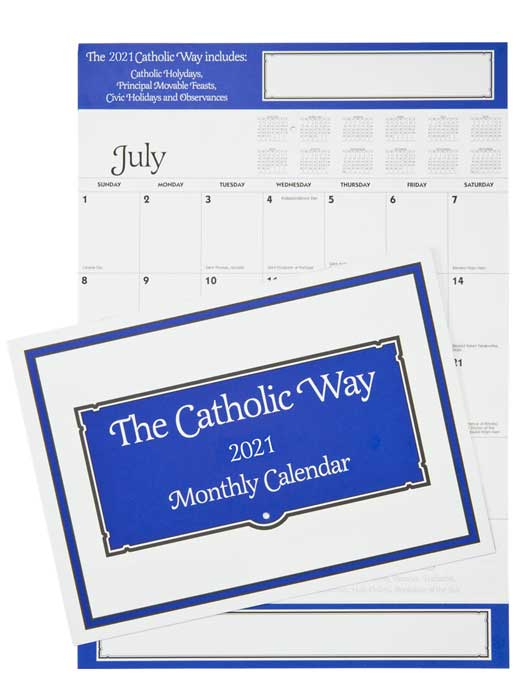 Even Year Catholic Way Monthly Calendar
