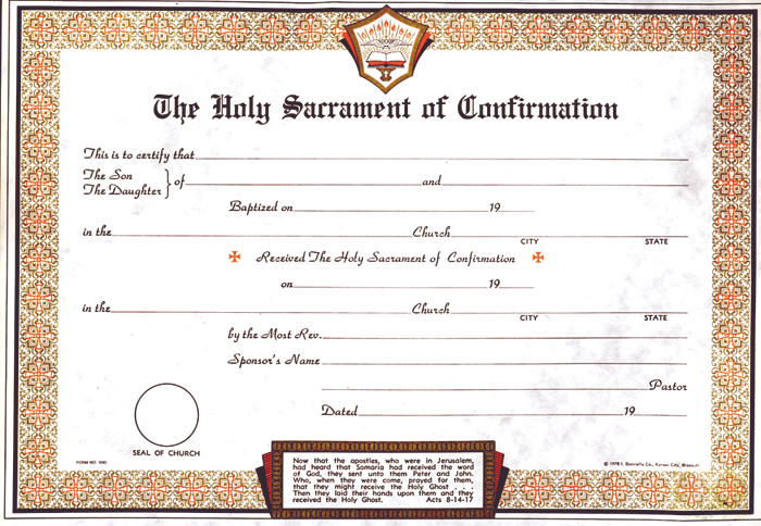 Misc page 1 of 7 for Confirmation certificate templates