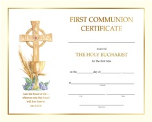 First Communion Certificate 10
