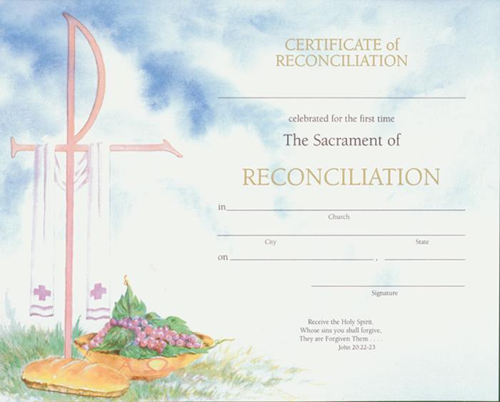 Reconciliation Certificate with Envelopes