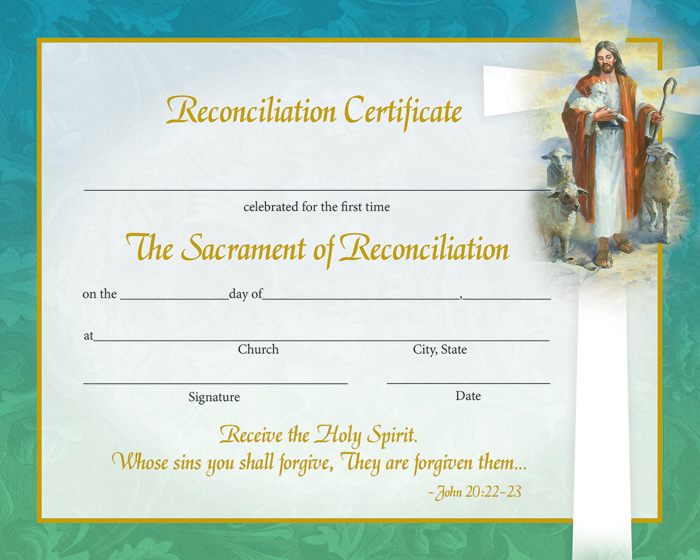 Reconciliation Certificate - With Envelopes