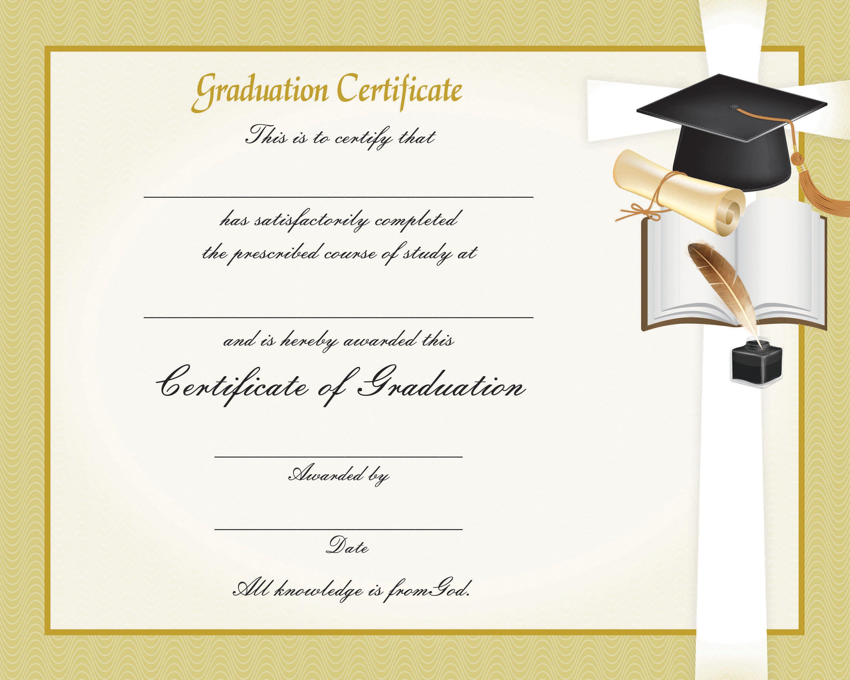 graduation certificate 2001 tonini church additional