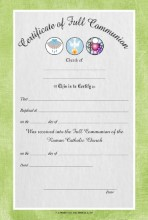 Certificate of Full Communion