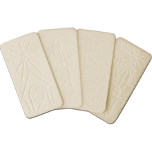 "White Christmas Wafers 5 3/4"" x 3"""