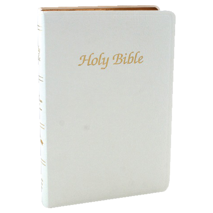 White Imitation Leather First Communion Bible