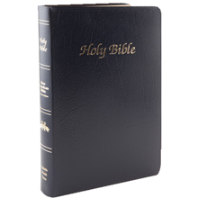 Navy Imitation Leather First Communion Bible