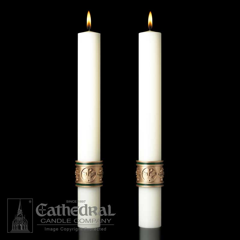 """Cross of St. Fancis"" Paschal Side Candle"