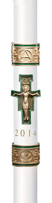 """Cross of St. Fancis"" Paschal Candle"