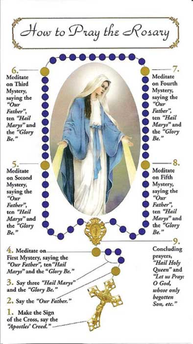 photo about How to Pray the Rosary Printable referred to as How in the direction of Pray the Rosary Pamphlet