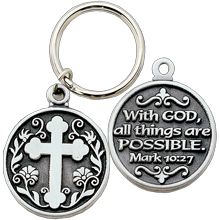 With GOD all things are POSSIBLE Key Chain