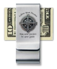 Compass Money Clip