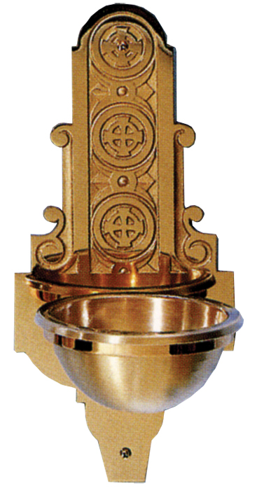 Bronze Wall Holy Water Font