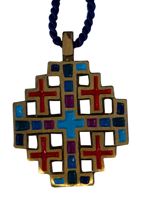 Colorful Jerusalem Cross