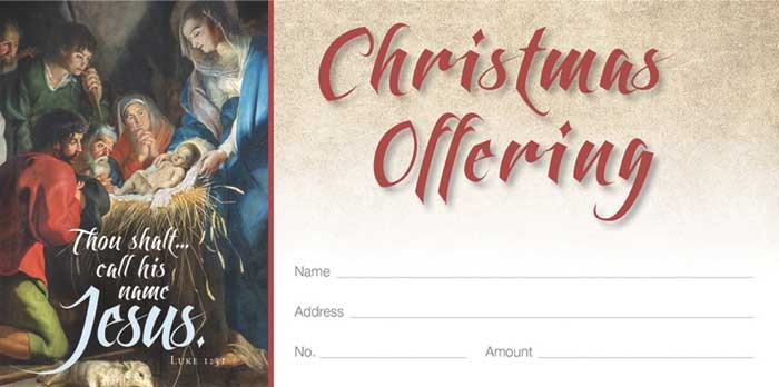 "Christmas Offering Envelope, 3 1/8"" x 6 1/4"""