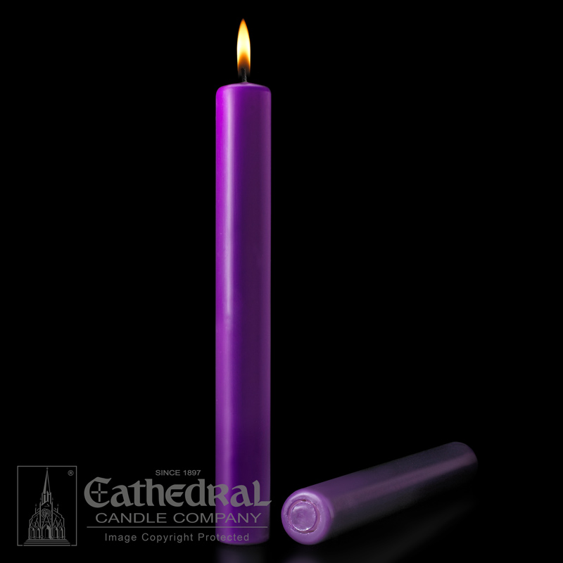 "2"" x 12"" Lenten Purple Altar Candles"