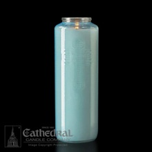 Marial Blue 6 Day Devotional Candle