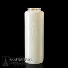 White Opal 6 Day Glass Devotional Candle