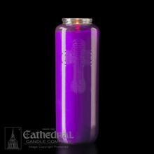 Purple 6 Day Glass Devotional Candle
