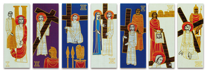 Short Stations of the Cross Hanging Tapestries