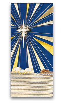 Christmas Star and Sheep Altar Cover