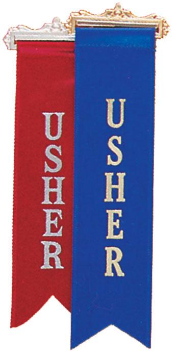 Ribbon Usher Badge  48-3702-XX  Tonini Church Supply