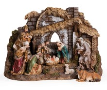 10 Figure Nativity Set with Stable