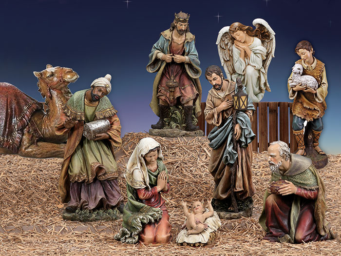 Large Indoor or Outdoor Nativity Set