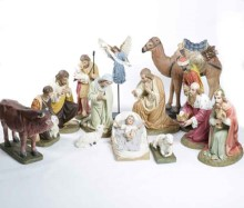 14 Piece Full Color Fiberglass Nativity Set