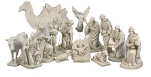 14 Piece White Fiberglass Nativity Set