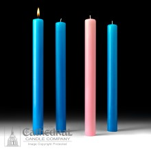Blue and Pink Advent Altar Candles