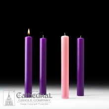 Advent Altar Candles 3 Purple 1 Rose-Pink