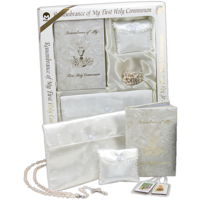 Girl Marian First Communion Boxed Gift Set
