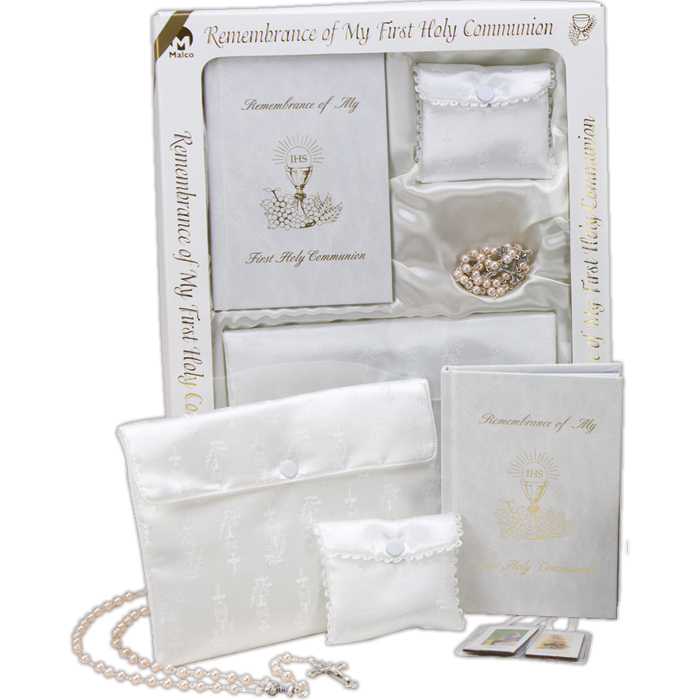 Girl's Marian First Communion Gift Set
