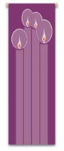 Advent Candles Hanging Indoor Banner