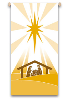 Nativity Hanging Banner