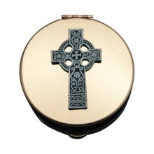 Extra Large Celtic Cross Host Pyx
