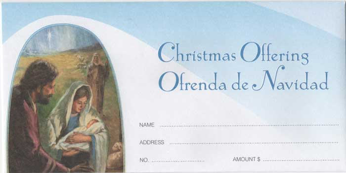 Bilingual Christmas Offering Envelope